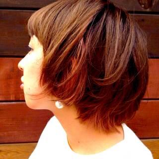 グラデーションカラー 愛され ボブ モテ髪 ヘアスタイルや髪型の写真・画像