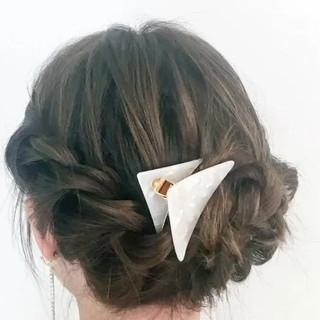 女子会 ヘアアレンジ 簡単ヘアアレンジ セミロング ヘアスタイルや髪型の写真・画像