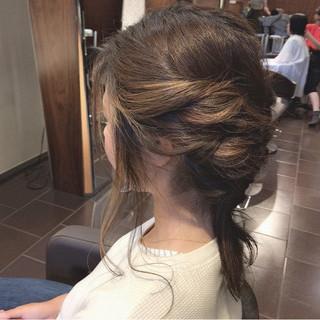 ハイライト 透明感 デート ヘアアレンジ ヘアスタイルや髪型の写真・画像