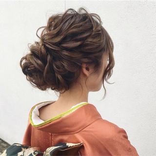 セミロング 大人女子 エレガント ヘアアレンジ ヘアスタイルや髪型の写真・画像