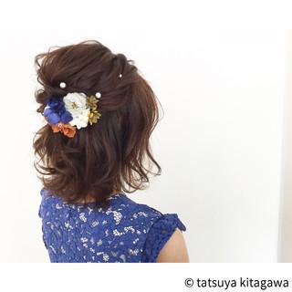 花嫁 ゆるふわ 外国人風 結婚式 ヘアスタイルや髪型の写真・画像