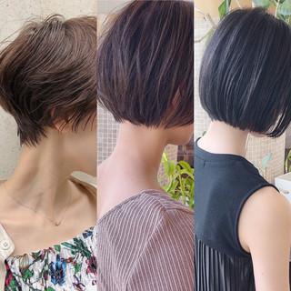 ショート ショートボブ ナチュラル ミニボブ ヘアスタイルや髪型の写真・画像
