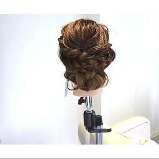 結婚式 上品 ロング ヘアアレンジ ヘアスタイルや髪型の写真・画像