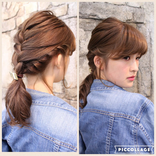 ゆるふわ フェミニン ヘアアレンジ ショート ヘアスタイルや髪型の写真・画像 ヘアスタイルや髪型の写真・画像