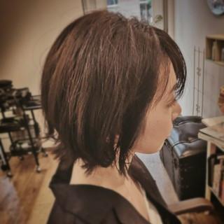 ローライト バレイヤージュ 縮毛矯正 レイヤーボブ ヘアスタイルや髪型の写真・画像