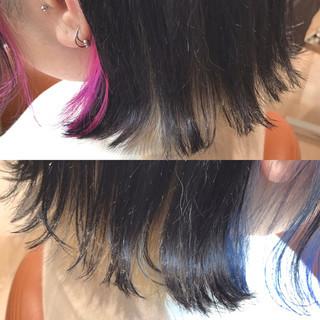 ハイトーン モード アッシュグレー ボブ ヘアスタイルや髪型の写真・画像
