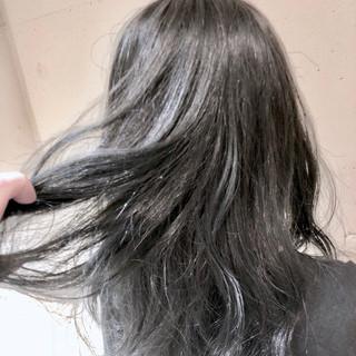 ストリート グラデーションカラー 外国人風カラー セミロング ヘアスタイルや髪型の写真・画像