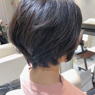 ハンサムショート エレガント 小顔ショート ショートヘア ヘアスタイルや髪型の写真・画像