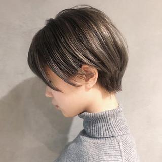 ショートボブ 艶髪 小顔ショート ショート ヘアスタイルや髪型の写真・画像