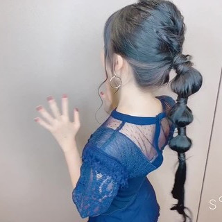 デート 結婚式 フェミニン セルフヘアアレンジ ヘアスタイルや髪型の写真・画像