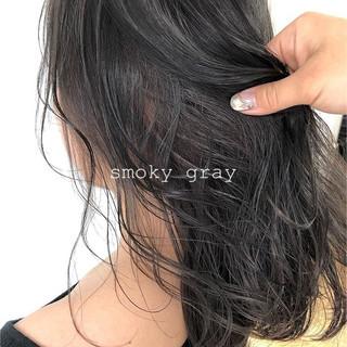 外国人風カラー セミロング デザインカラー 透明感カラー ヘアスタイルや髪型の写真・画像