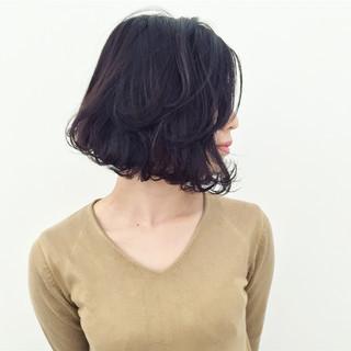 色気 ボブ ハイライト 外国人風 ヘアスタイルや髪型の写真・画像