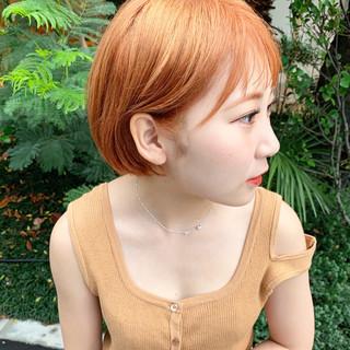 韓国ヘア 外国人風カラー 透明感カラー ショート ヘアスタイルや髪型の写真・画像