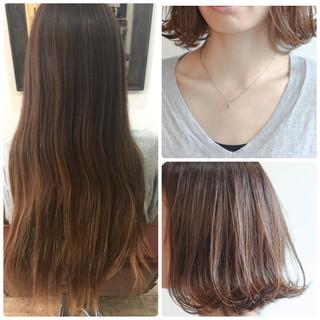 ストリート フェミニン ミディアム ニュアンス ヘアスタイルや髪型の写真・画像