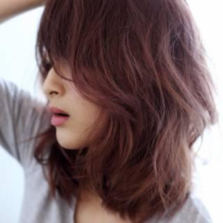 外国人風 ストリート ミディアム グラデーションカラー ヘアスタイルや髪型の写真・画像