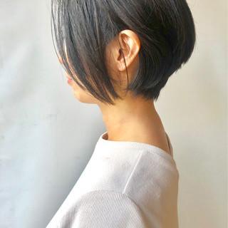 モード ハンサムショート ショート ショートボブ ヘアスタイルや髪型の写真・画像