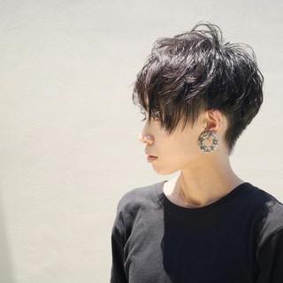 かっこいい 外国人風 マッシュ モード ヘアスタイルや髪型の写真・画像