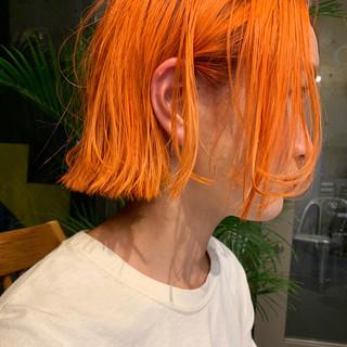 ボブ ミニボブ ショートヘア インナーカラー ヘアスタイルや髪型の写真・画像