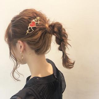 ミディアム ヘアアレンジ 結婚式 デート ヘアスタイルや髪型の写真・画像
