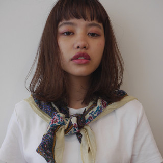 鎖骨ミディアム ナチュラル ミディアムヘアー ミディアム ヘアスタイルや髪型の写真・画像