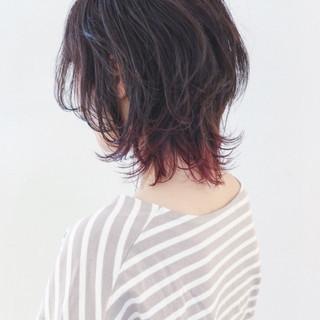 外ハネ グラデーションカラー マッシュ ストリート ヘアスタイルや髪型の写真・画像 ヘアスタイルや髪型の写真・画像