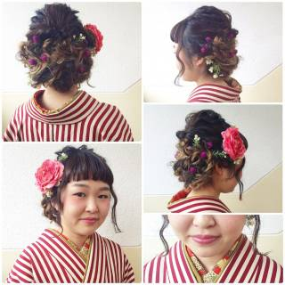 ロング ウェットヘア 春 アップスタイル ヘアスタイルや髪型の写真・画像