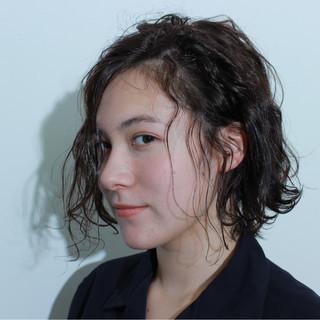 ボブ モード アッシュ 外国人風 ヘアスタイルや髪型の写真・画像 ヘアスタイルや髪型の写真・画像