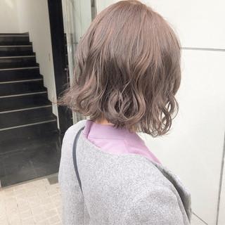 パーマ 簡単ヘアアレンジ デート ナチュラル ヘアスタイルや髪型の写真・画像