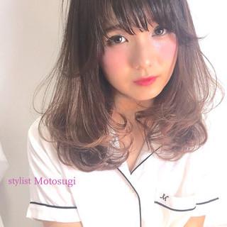 ミディアム 簡単 モテ髪 ワンカール ヘアスタイルや髪型の写真・画像 ヘアスタイルや髪型の写真・画像