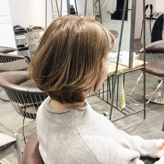 ボブ 大人かわいい グラデーションカラー ショートボブ ヘアスタイルや髪型の写真・画像