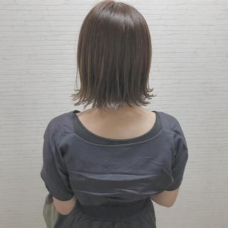 大人女子 エレガント 切りっぱなし 小顔 ヘアスタイルや髪型の写真・画像