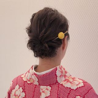 結婚式ヘアアレンジ ヘアセット ヘアアレンジ ミディアム ヘアスタイルや髪型の写真・画像