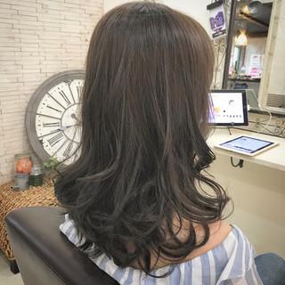 ブルージュ ナチュラル 暗髪 セミロング ヘアスタイルや髪型の写真・画像 ヘアスタイルや髪型の写真・画像