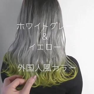 セミロング 外国人風カラー 透明感 グラデーションカラー ヘアスタイルや髪型の写真・画像 ヘアスタイルや髪型の写真・画像