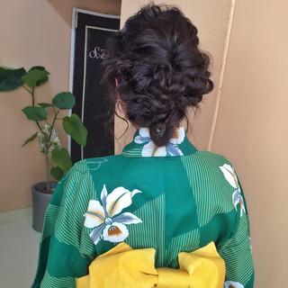 黒髪 簡単ヘアアレンジ ヘアアレンジ セミロング ヘアスタイルや髪型の写真・画像 ヘアスタイルや髪型の写真・画像