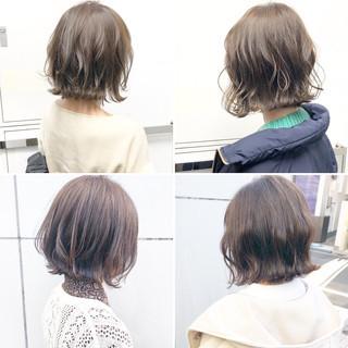 簡単ヘアアレンジ ボブ アンニュイほつれヘア 切りっぱなし ヘアスタイルや髪型の写真・画像