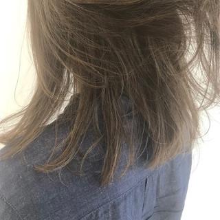 ナチュラル 透明感 外国人風カラー ミディアム ヘアスタイルや髪型の写真・画像