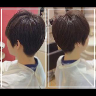 オフィス ショートヘア ショート ナチュラル ヘアスタイルや髪型の写真・画像