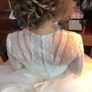 大人かわいい フェミニン セミロング ヘアアレンジ ヘアスタイルや髪型の写真・画像