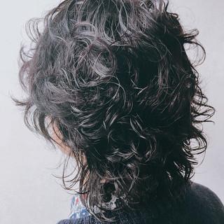 ウルフパーマ モード ウルフカット ウルフ女子 ヘアスタイルや髪型の写真・画像