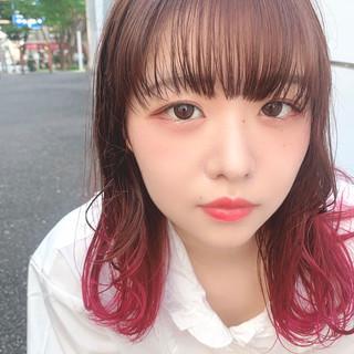 ピンク 大人可愛い ガーリー かわいい ヘアスタイルや髪型の写真・画像