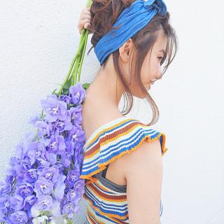 ガーリー ゆるふわ リラックス ヘアアレンジ ヘアスタイルや髪型の写真・画像