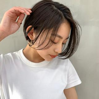 コスメ・メイク ショートヘア ナチュラル ヘアカラー ヘアスタイルや髪型の写真・画像