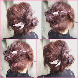グラデーションカラー ガーリー ゆるふわ ショート ヘアスタイルや髪型の写真・画像