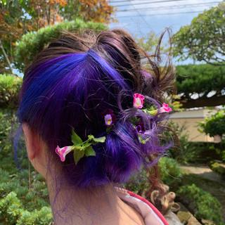 モード 成人式 セミロング ヘアスタイルや髪型の写真・画像