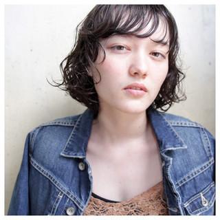 グラデーションカラー 黒髪 ミディアム 暗髪 ヘアスタイルや髪型の写真・画像