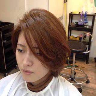 大人かわいい グラデーションカラー フェミニン ショート ヘアスタイルや髪型の写真・画像