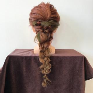 フェミニン ヘアアレンジ 編み込み 大人かわいい ヘアスタイルや髪型の写真・画像