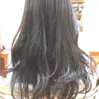 グラデーションカラー セミロング ナチュラル ゆるふわ ヘアスタイルや髪型の写真・画像