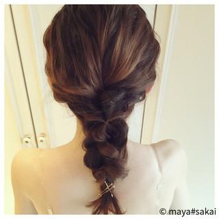 大人かわいい フェミニン ヘアアレンジ 三つ編み ヘアスタイルや髪型の写真・画像 ヘアスタイルや髪型の写真・画像